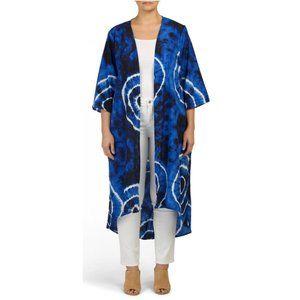 Forgotten Grace NEW Blue Lace Duster Kimono
